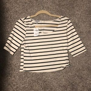 Tops - Charolette Russe black and white crop top WITH TAG
